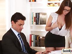 Office, Big Tits, Blowjob, Boobs, Boss, Cumshot