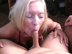 Blond MILF Deepthroats Anal DP and wants more!!