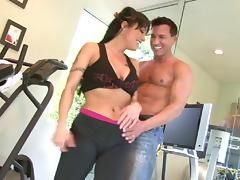 A good workout ends with this MILF having her ass reamed