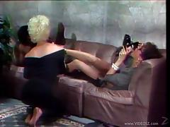 Chi Chi Larue And Jazzmyn In A Lesbian Interracial Fuck Time On High Heels