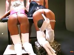 Bukkake gangbang with two hot german girls