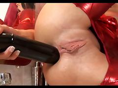 Anal work with big dildos