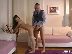 Hot ass girl loves a hard dong in her rectum