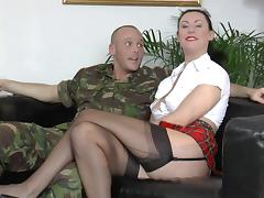 Army, Anal, Army, Blowjob, British, Couple