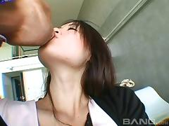 Satin, Amateur, Asian, Blowjob, Bra, Couple