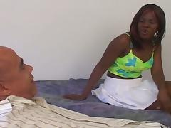 Ebony slut in shave dat nappy thang 9