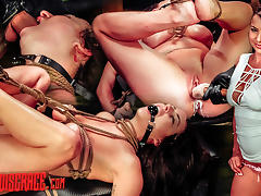 Kali Kavalli Endures 1st Slave Training with Rope Bondage, Sybian, Deepthroat BJ, Rough Sex
