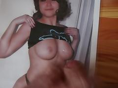 Cumming on nice tits