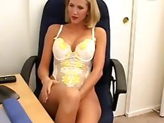 Sexy blonde slut gets fucked hard on the floor