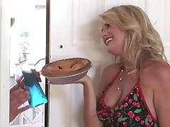 Mature blonde big tits milf fucks really hard