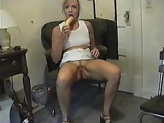 Banana, Amateur, Banana, Fucking, Masturbation