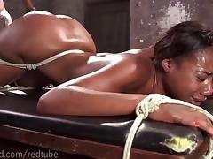 Amazing Ebony Ass Bondage