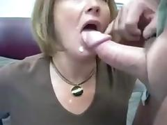 Wife sucks cock