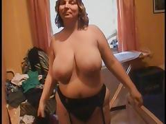 Big tits BBW Mom  in black stockings Anal