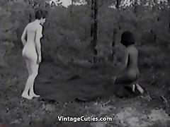 Naked Nudist Girls Messing Around (1960s Vintage)
