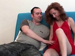 Mom and Boy, Blowjob, Cum, Hardcore, HD, Mature