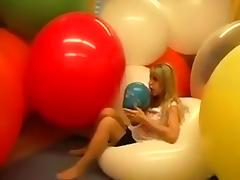 Balloon, Balloon, Blonde, European, Fetish, Sex