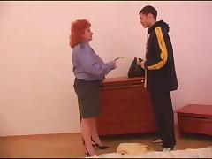 Alluring redhead loves having her big tits squeezed while being screwed