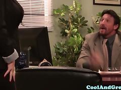 All, Big Tits, Blowjob, Boobs, Facial, Office