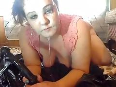 Webcam, BBW, Brunette, Smoking, Solo, Webcam