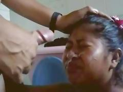 2x facial in bathroom for mature peruvian Natacha
