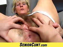 Granny, Close Up, Granny, Hairy, Mature, Old