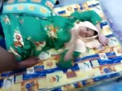 Muslim hijab asian girl gets missionary fucked on the floor