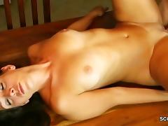 Mom Caught Young Step-Son Jerk and Fuck