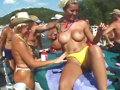 Mardi Gras, Amateur, Big Tits, Bikini, Blonde, Exhibitionists