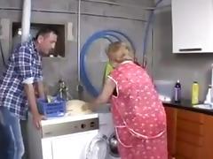 Granny fucks the repairman