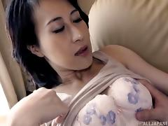 Asian Mature, Asian, Bra, Couple, Cowgirl, Doggystyle