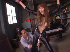 Catsuit, Asian, BDSM, Blowjob, Catsuit, Erotic