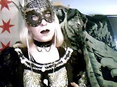 Goth queen crossdresser