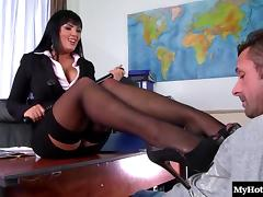Office, Couple, Hardcore, Nylon, Office, Penis