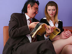 TrickyOldTeacher - College student sucks cock of older teacher and rides his hard cock