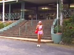 Blond hitchhiking sexpot