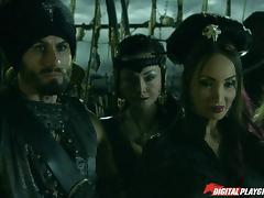 Jesse and Katsuni getting banged hard on the pirate ship