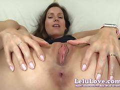 Lelu Love-Super Closeup Pussy Spreading Asshole Puckering