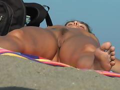 Beach, Beach, Flashing, Public, Pussy, Spy