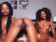 Ebony dick riding practice - lesbians