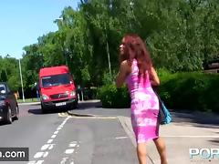 Ebony Milf Flashing and pissing in public