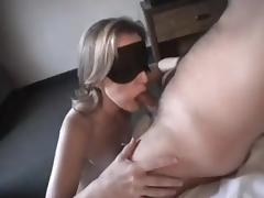Blindfolded, Blindfolded, Blowjob, Mature, Penis, Wife