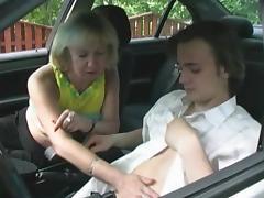 Mature russian taxi seducing.