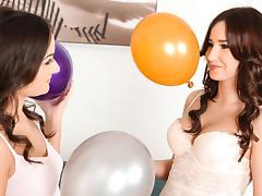 Anina Silk & Cherry Bright in Balloon babes - SapphicErotica