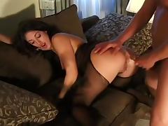 Seductive Coed Fucking by Fireplace