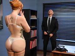 All, Big Tits, Redhead, Secretary, Stockings, Teen