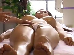 Massage, Asian, Big Tits, Brunette, Lesbian, Massage
