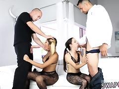 Daddy, Blonde, Blowjob, Brunette, Fucking, HD