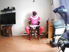 Sissy slut chair self bondage