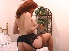 Antique, Big Tits, Boobs, Lingerie, Masturbation, Redhead